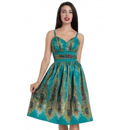 Voodoo Vixen Green Hattie Peacock Evening Dress