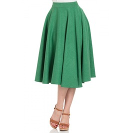 Voodoo Vixen Sandy Green Full Circle Skirt