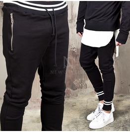 White Contrast Striped Accent Sweatpants 286