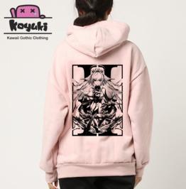 Nero Back Print Hoodie Soft Pink