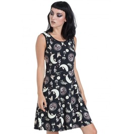 Jawbreaker Clothing Black Catstellation Skater Dress