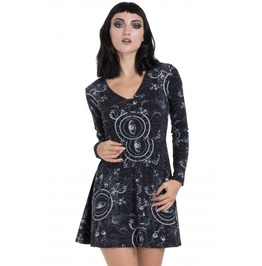 Jawbreaker Clothing Black Ethereal Nature Skater Dress
