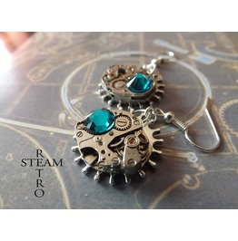 Steampunk Zircon Earrings Steampunk Steamretro