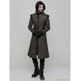 Green Gothic Punk Military Style Handsome Coat For Men Wy 854 G