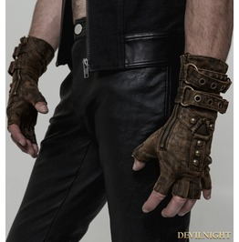 Coffee Steampunk Gloves For Men Reference : Ws 252 C0