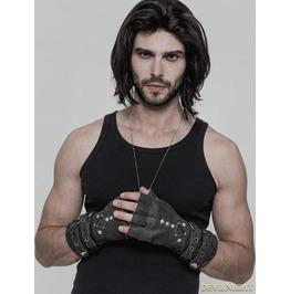 Grey Steampunk Gloves For Men Ws 252 Gy