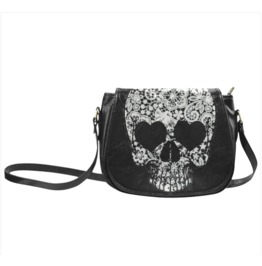 Lace Skull Saddle Bag