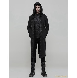 Black Gothic Punk Long Trench Coat For Men Oy 856
