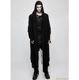 Black Gothic Punk Dark Death Cloak Coat For Men Opy 228 M