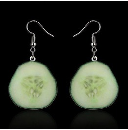 Cool Cucumber Lightweight Plastic Fun Earrings