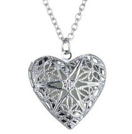 Enchanting Heart Locket Design Pendant Glows In Dark