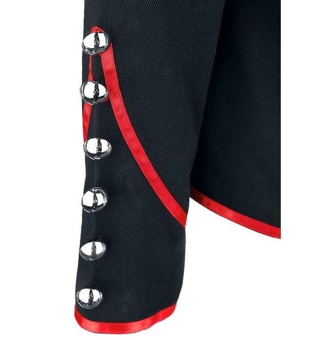 df51b87993 Men Military Jacket Gothic Steampunk Drummer Red Parade Marching Jacket Got