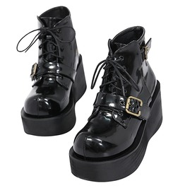 Punk Rock Women's Star Studded Lace Up Boots