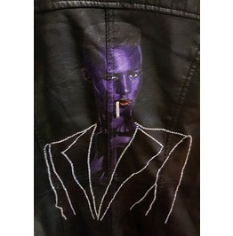 Grace Jones Handpainted Jacket