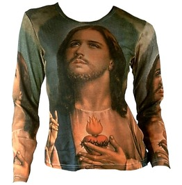 Jesus Christ Vintage Religion Tattoo Ink T Shirt M