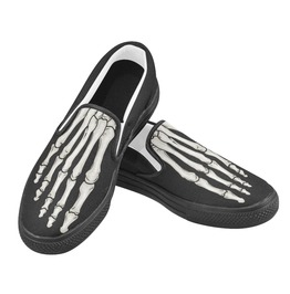 Elliz Skeleton Foot Slip On Skater Sneakers Unisex *Free Shipping*