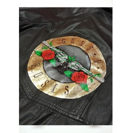 Guns N Roses Handpainted Coat With Gold Leaf