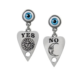 Ouija Planchette Ladies Gothic Earrings By Alchemy Gothic
