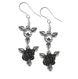 Ring 'o Roses Ladies Gothic Earrings By Alchemy Gothic