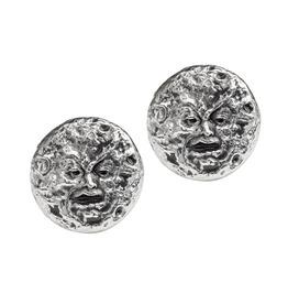 M'era Luna Man In The Moon Unisex Gothic Stud Earrings By Alchemy Gothic
