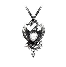 Diamond Heart Unisex Gothic Pendant By Alchemy Gothic