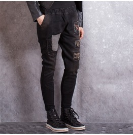 Womens Casual Punk Pant With Knit Pocket