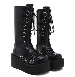 Goth Punk Platform Lace Up Boots Shoes
