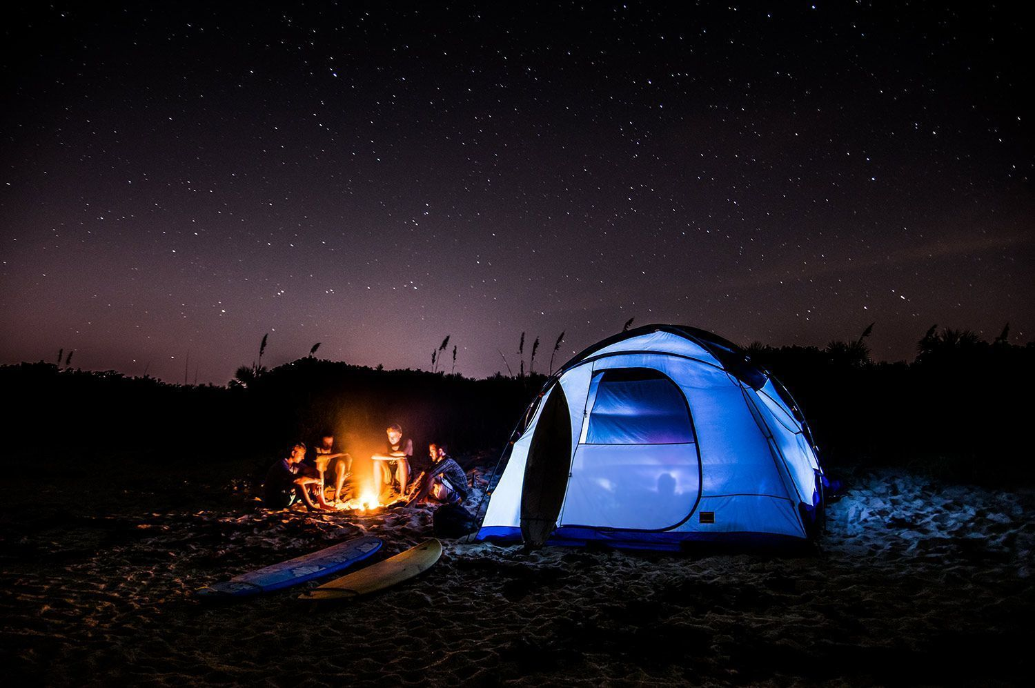 Spend Spring Break Camping At the Beach