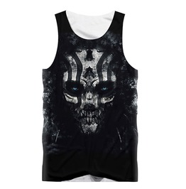Gothic Black Skull Of Death Tank Top