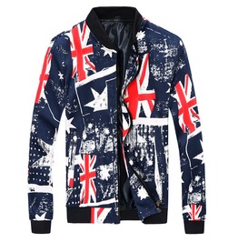 Uk Flag Casual Men's Jacket
