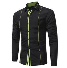Double Fine Lines Decor Men Shirt