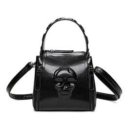 Gothic Skull Embossed Handbag