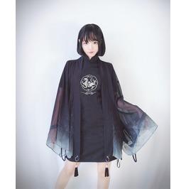 Sheer Kimono Cape Top Womens Goth