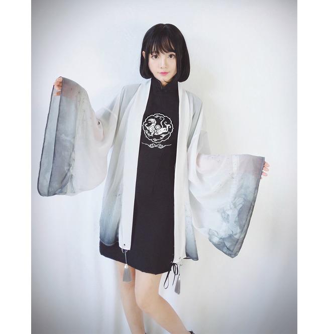 chaussure profiter du prix de liquidation différemment Sheer Kimono Cape Top Womens Goth