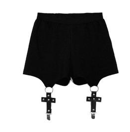 Cross Suspender Shorts Womens Bottom Goth Capri
