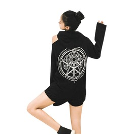 Augury Witch Off Shoulder Hoodie Womens Harajuku Top