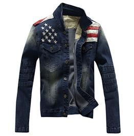 American Flag Denim Men Jacket