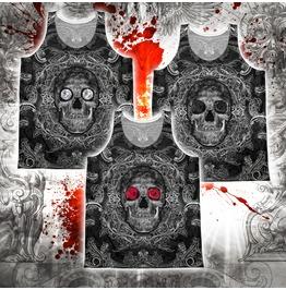 Unisex Dark Sugar Skull Tank Top W Diamonds, Roses Black Or Red
