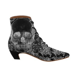 Baroque Skull Pointy Boots Ladies