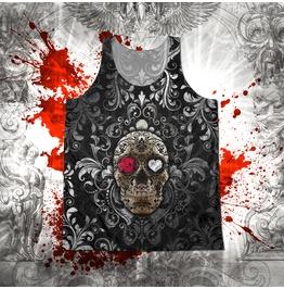 Unisex Gothic Fiesta Sugar Skull Tank Top
