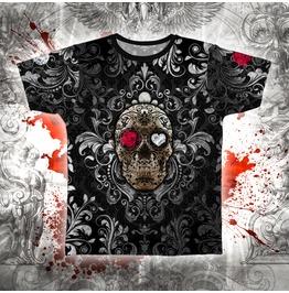 Womens Gothic Fiesta Sugar Skull T Shirt