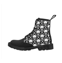 Skull And Bones Ladies Combat Boots