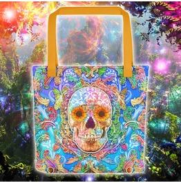 Sugar Skull Psychedelic Tote Bag