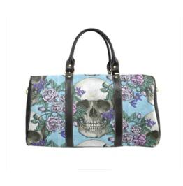 Skulls And Roses Waterproof Handbag