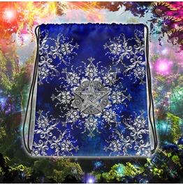 Silver Pentacle / Pentagram Drawstring Bag