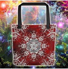 Silver Pentacle Or Pentagram Tote Bag