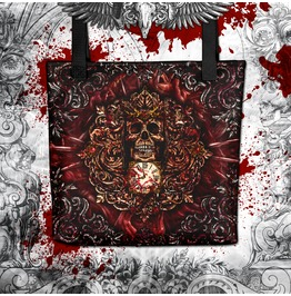 Reapers Horror Skull Tote Bag Blood And Gore