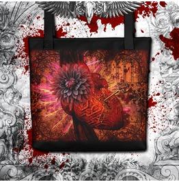 Dark Valentines Heart And Lock Tote Bag