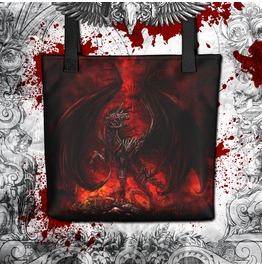 Demon Horse Tote Bag Hellish Fantasy Illustration