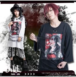 Japan Street Punk Anime Killing Machine Hell Girl Figure Baggy Tee Jag0048